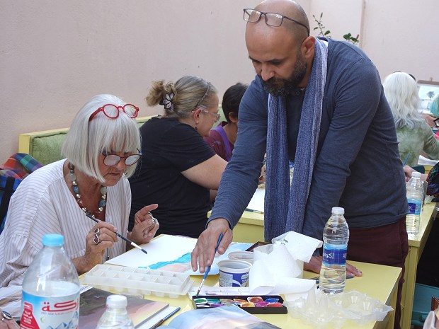 Watercolour workshop with Wael Nour at Nūn Art Gallery on 15/16 March 2020