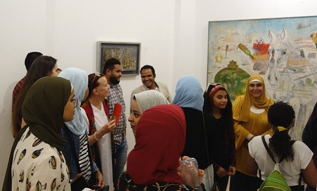 Ramadan Abd el-Moatmed at one of his exhibitions